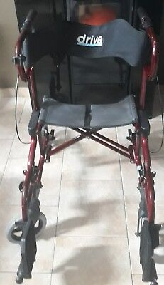 Rollator 4 roues Drive Diamond Deluxe rouge - à saisir !