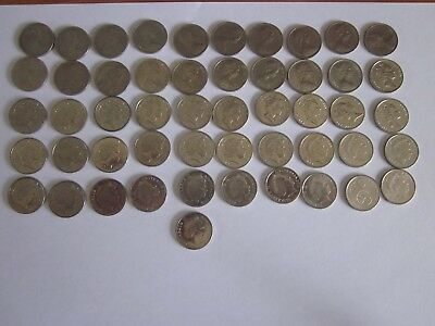 5 cent coin set 1966 to 2017 (with both 2016) includes 1972