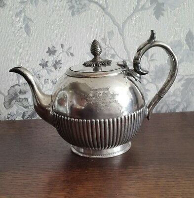 An Antique Silver Plated Teapot by James Dixon u0026 Sons Dated 1913 & AN ANTIQUE SILVER Plated Teapot by James Dixon u0026 Sons Dated 1913 ...