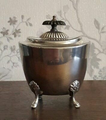 A Lovely Victorian Silver Plated Tea Caddy by Francis Howard