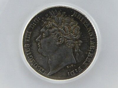 1825 SIXPENCE UNC or near so, Graded & Encapsulated LCGS 75, MS62-63 (ESC 1659)