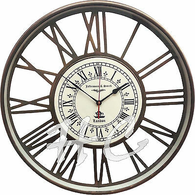 Antique Vintage made for Jefferson & Smith London Nautical Brass Ship Wall Clock