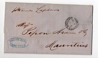 1880 South Africa To Mauritius Cover By Steamer, Cape Town, Contents !