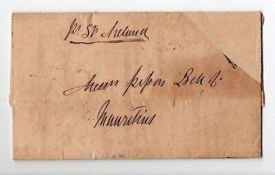 1857 South Africa To Mauritius Cover, Cape Of Good Hope Red Cancel !!!