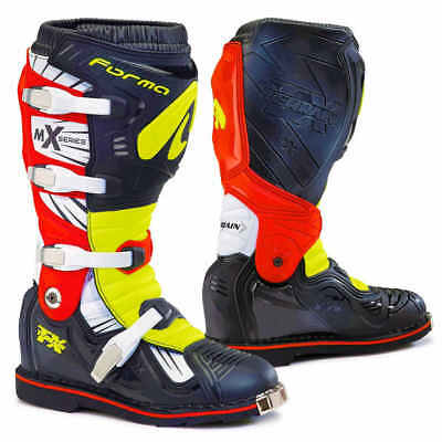 Forma TERRAIN TX neon red motocross motorcycle boots