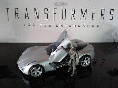 Transformers ROTF Human Alliance Sideswipe with Tech Sergeant Epps