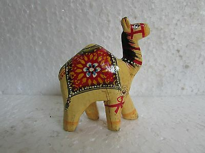 Vintage look Wooden Handcrafted Beautiful Hand Painted Camel Statue Figurine