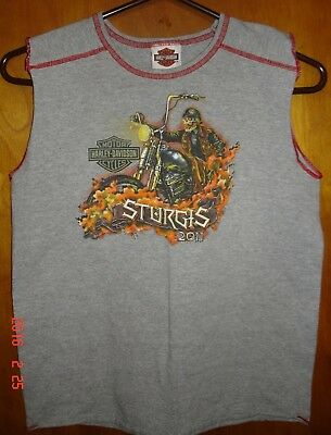 Harley-Davidson Motorcycles Sturgis 2011 Muscle Shirt Youth Size L 14-16