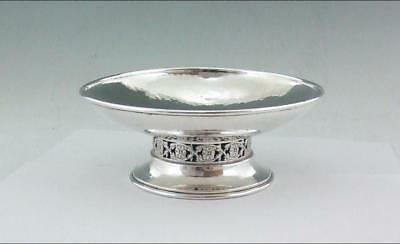 Arts And Crafts Solid Silver Pedestal Bowl A.e. Jones 1916