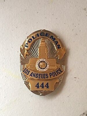 Obsolete Full Size Dragnet or Adam 12 Style California Police Movie Prop Badge