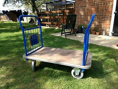 Heavy duty flatbed equipment trolley. Used
