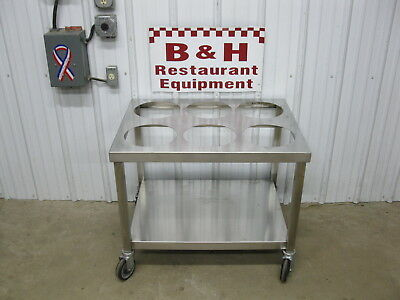 """26"""" x 34"""" Stainless Steel Six 2 Gallon Bucket Donut Icing Bakery Glazing Table"""