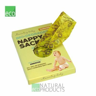 Beaming Baby Bio-Degradable Nappy Sacks Fragranced 60