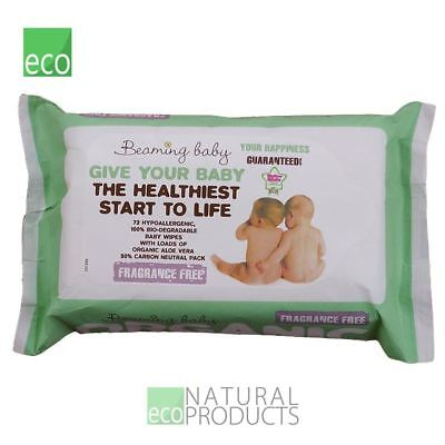 Beaming Baby Organice Baby Wipes Fragrance Free 72 Wipes