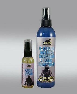 Ammo Motorcycle Helmet Cleaner (Outside & Inside!) + Super Handy Visor Cleaner