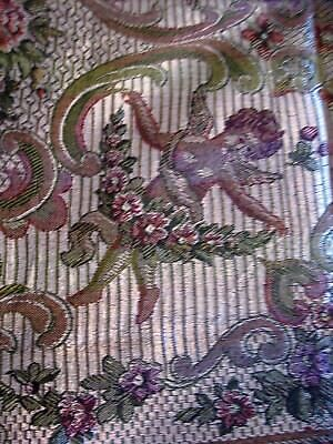 CHERUBS Jacquard Tapestry Coverlet Bedspread Woven Curtain Table Fabric Italy
