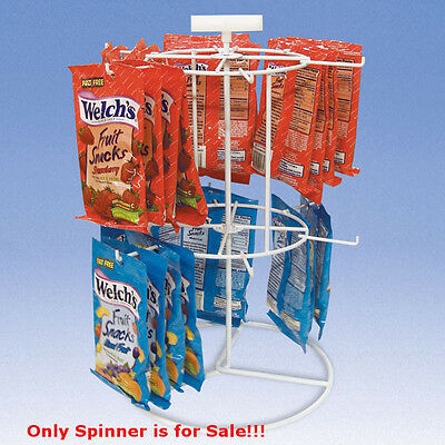 New Powder Coat Steel 2 Tier Counter Spinner With 12 Pegs 12 in. D x 15 in. H
