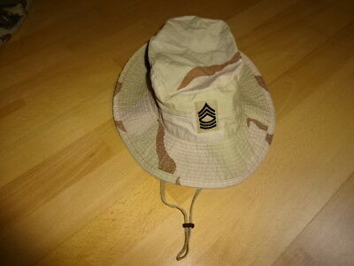 US ARMY MASTER SERGEANT BOONIE SUN HOT WEATHER HAT 3-color-DESERT (7) STORM DCU