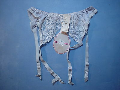 Vintage Maidenform 25300 Heartstrings Garter Belt Size Medium in Pale Blue
