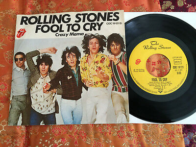 """7"""" Single - ROLLING STONES - Fool To Cry / Orig. RS Rec. COC 19121 / D '76 / M--"""