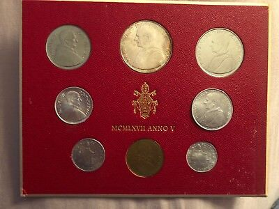 Vatican City Pontiff Paul VI Anno V Mint Set MCMLXVII 1967 UNC