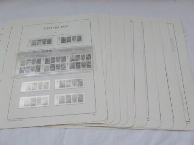 Lighthouse Great Britain Illustrated & Hingeless Stamp Albumleaves Various Years
