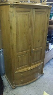Antique Pine Wood Single Cupboard 1880 rare  very good condition.