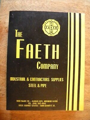 1975 Faeth Company Catalog Auto Supplies Hardware Old Contractor Construction
