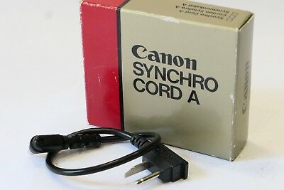 Canon Synchro Cord A, Boxed, fits Speedlight 155A 177A 199A Camera Flash