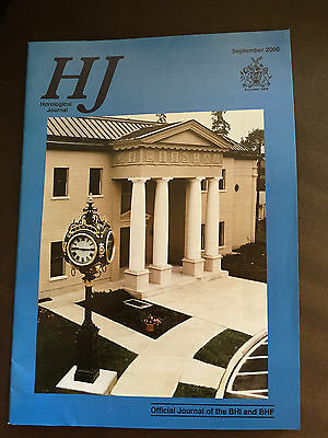 Sept 2000 Horological Journal Magazine - The Gallery & Office Clock