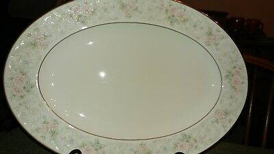 "Noritake China 9722 Willowbrook 14 3/8"" Serving Platter"