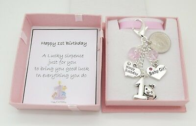 Baby's First (1st) Birthday Gift. Lucky Sixpence.Baby Girl.Daughter.Son.Grandson