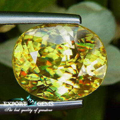 6.13Ct Clean Natural Yellow Oval Sphene