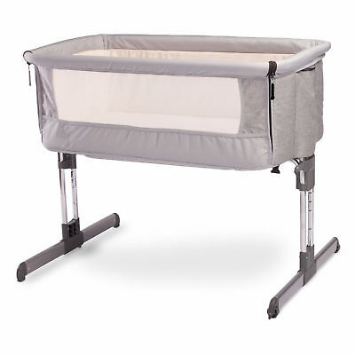 Bedside crib/Travel crib W/ Mattress Adjustable height and stand Infant Toddler