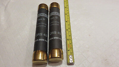 (lot of 2)  GOULD CRS 45 TYPE D TIME DELAY FUSE 45A 600V