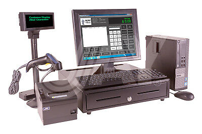 JAY POS System-PC+Monitor+Drawer+Printer+Display+Scanner+Kybd+Win 7SP1 Pro 64bit