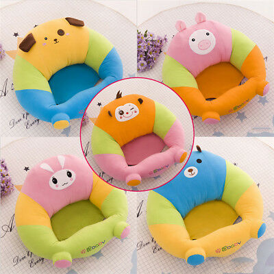 Infant Baby Learn Chair Support Seat Sit Soft Safety Seat Sofa Plush Pillow Toys