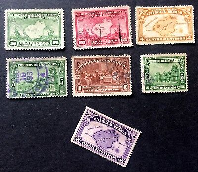6 nice old used stamps Costa Rica / 02