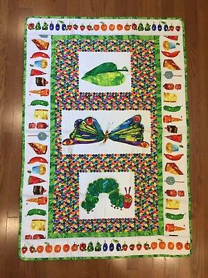 New The Very Hungry Caterpillar finished Quilt Or wall hanging crib Eric Carle