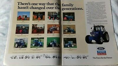 Power Farming magazine July 1989 Ford tractor brochure