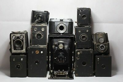 Joblot of 12 Vintage Cameras in Various states of Condition (Read fully)