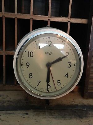 Vintage Smiths Sectric Electric Factory Clock Shop Find Bakelite? Cream Retro 8""