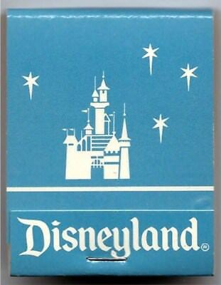 Disneyland - Book of Matches With Castle - Blue - New -1980's