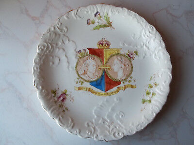 Antique Allertons 9inch China Commemorative Plate - 1897 Queen Victoria Jubilee.