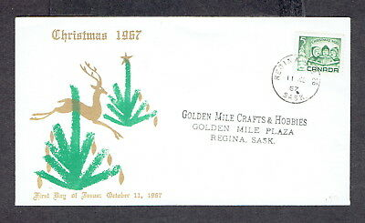 Canada FDC - 1967 - Christmas, Scott #'s 477, Unkown Cover ??