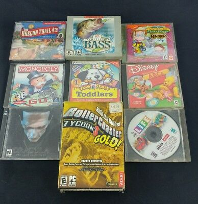 Lot Of 10 PC Games And Software For Windows 95/98, or XP.