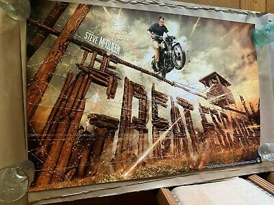 """Jack Gregory The Great Escape 24"""" x 36"""" Movie Poster Steve McQueen Mondo Sold !!"""