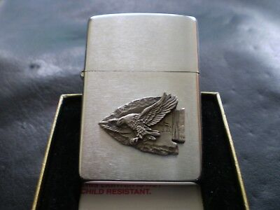 Zippo / The Indian Eagle Arrowhead In Fantastic Raised Detail / Mint In Box