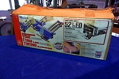 Record 52 1/2 ED Woodworking Vise w/ Quick Release and Bench Dog-- New In Box