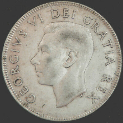 Canada 1952 George Vl 50 Cents  #140251